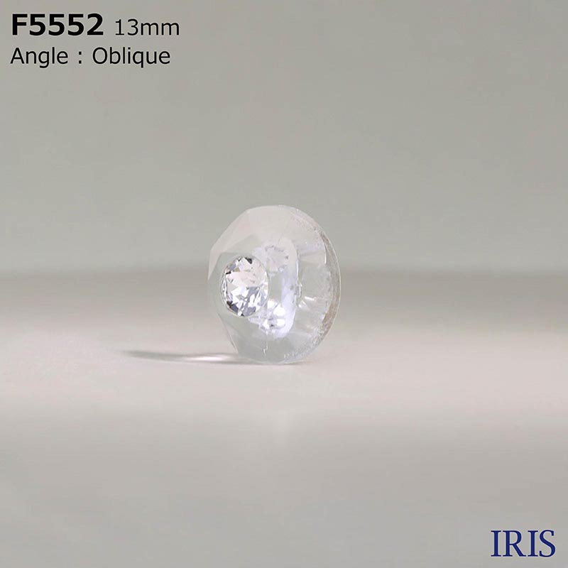 F5552 ガラス/アクリル樹脂 角カン足ボタン  1サイズ1色展開