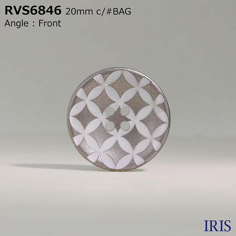 RVS6846 ポリエステル樹脂 表穴4つ穴ボタン  4サイズ4色展開