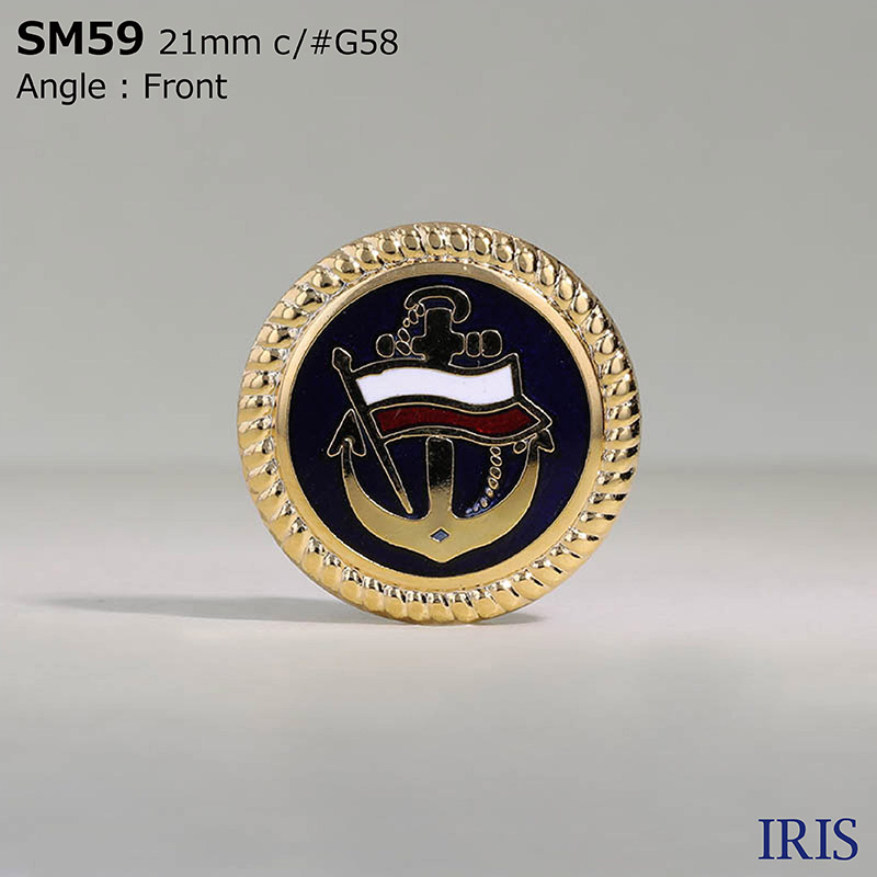 SM59 七宝(丹銅)/真鍮 丸カン足ボタン  2サイズ1色展開