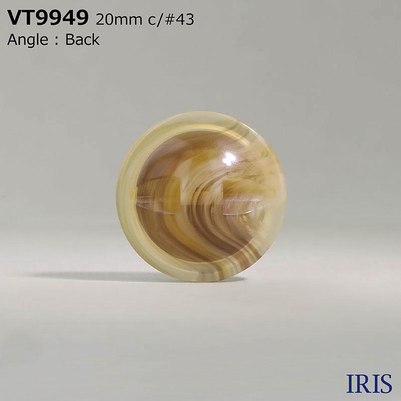 VT9949 ポリエステル樹脂 トンネル足ボタン  4サイズ4色展開