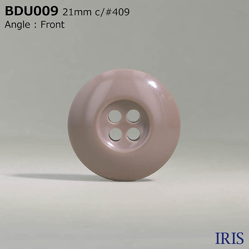 BDU009 ポリエステル樹脂 表穴4つ穴ボタン  5サイズ6色展開
