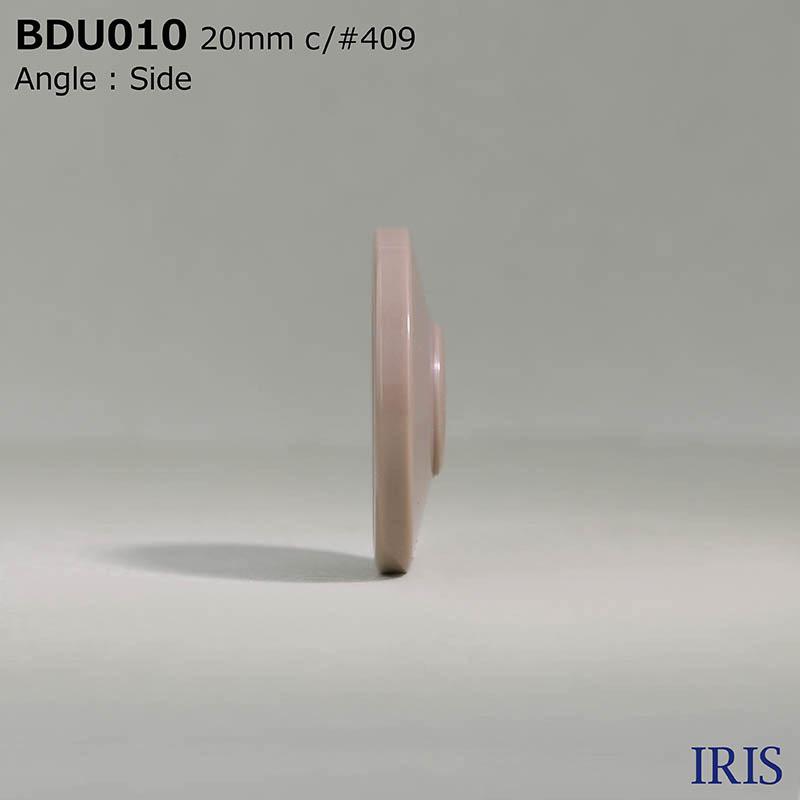 BDU010 ポリエステル樹脂 表穴4つ穴ボタン  4サイズ6色展開