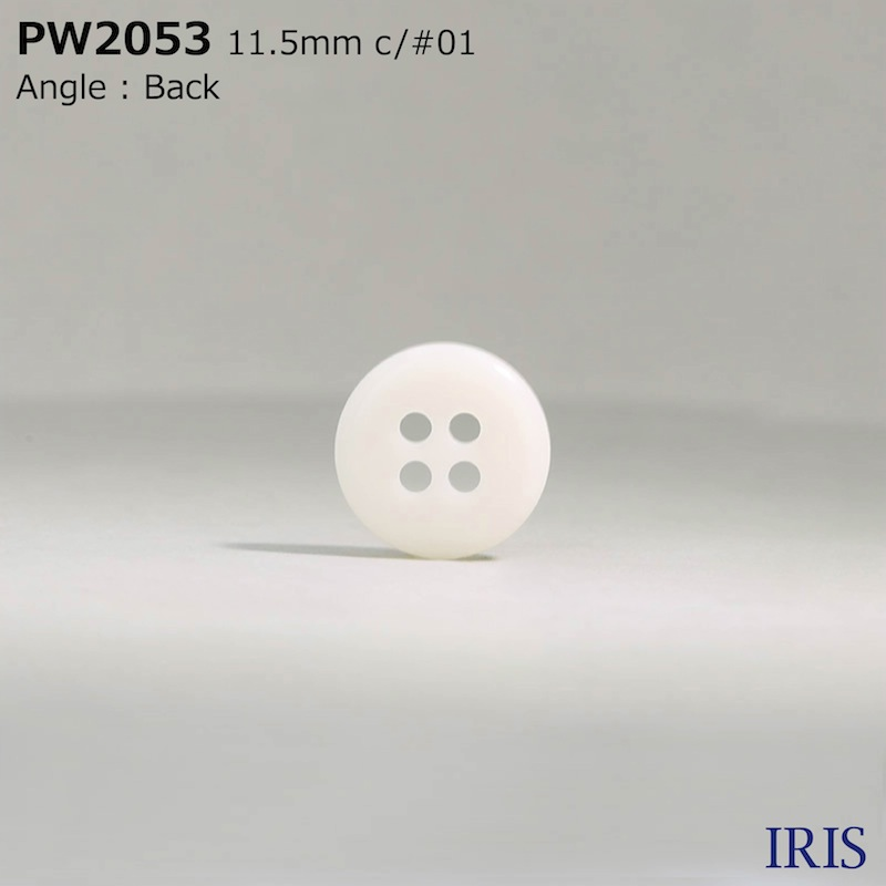 PW2053 ポリエステル樹脂 表穴4つ穴ボタン  3サイズ4色展開