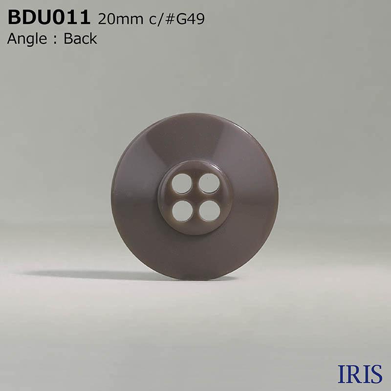 BDU011 ポリエステル樹脂 表穴4つ穴ボタン  4サイズ6色展開