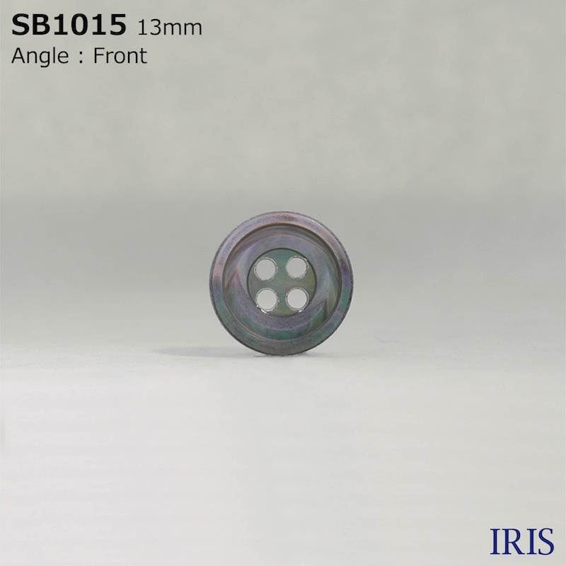 SB1015 黒蝶貝 表穴4つ穴ボタン  4サイズ1色展開