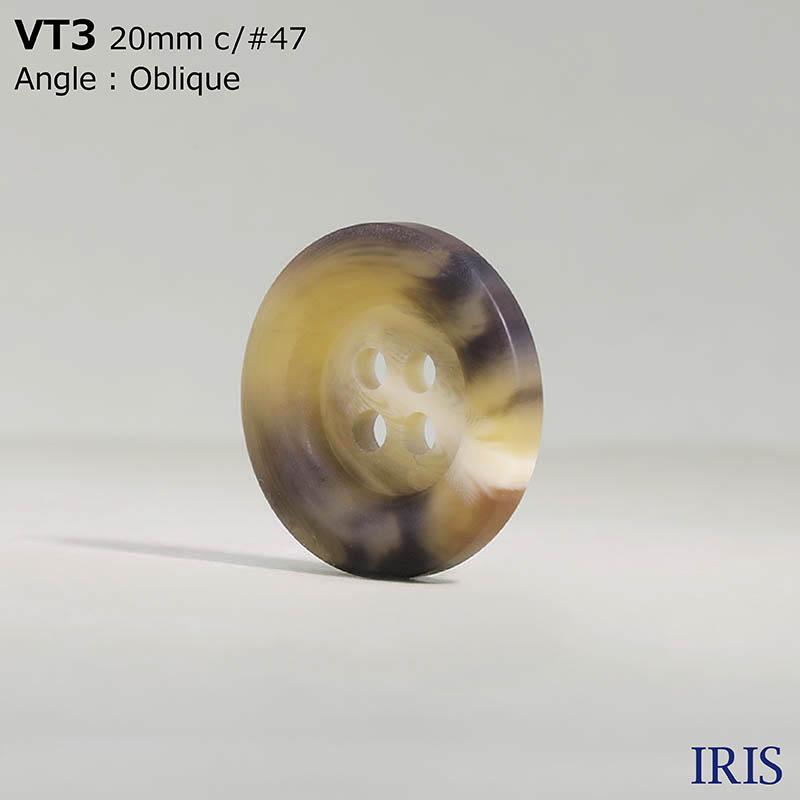 VT3 ポリエステル樹脂 表穴4つ穴ボタン  5サイズ9色展開
