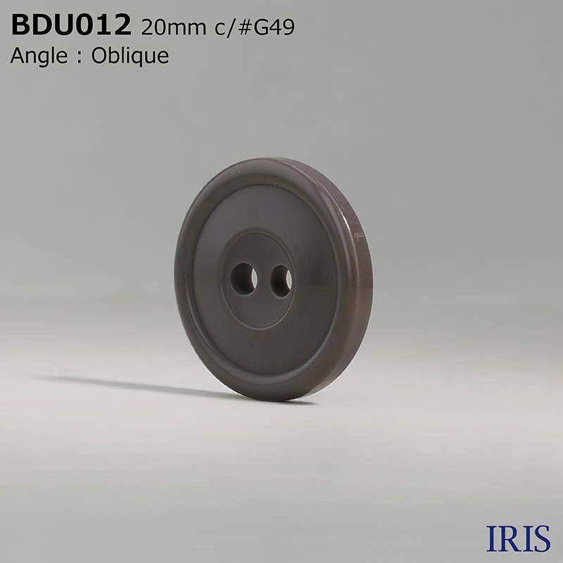 BDU012 ポリエステル樹脂 表穴2つ穴ボタン  4サイズ6色展開