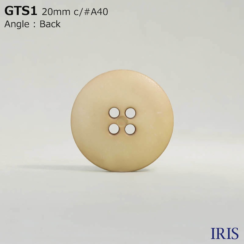 GTS1 ナイロン樹脂 表穴4つ穴ボタン  4サイズ7色展開