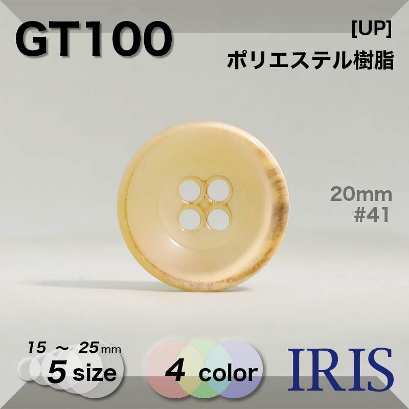 GT100 ポリエステル樹脂 表穴4つ穴ボタン  5サイズ4色展開
