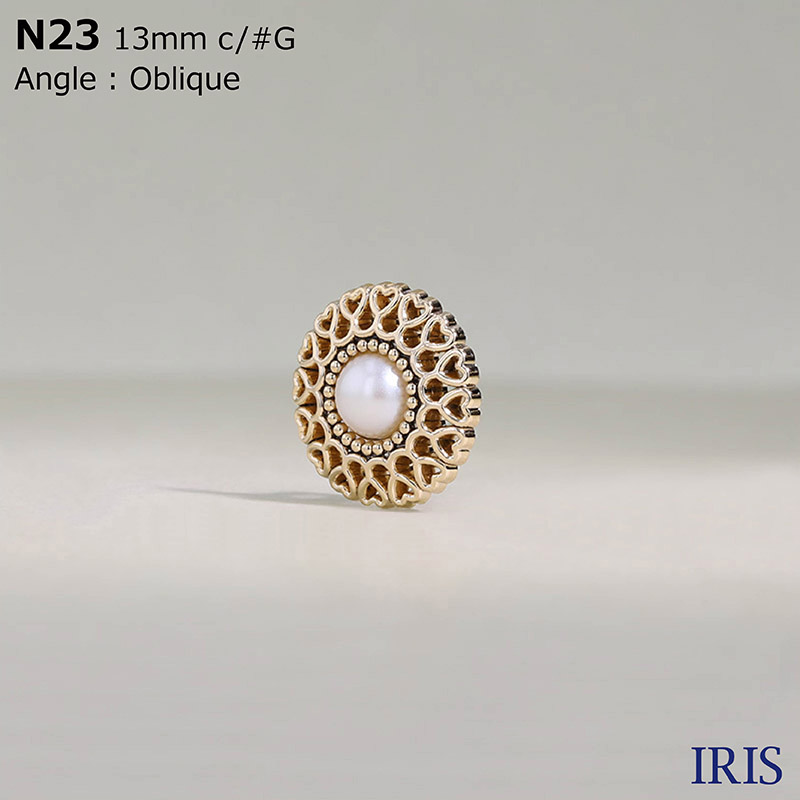 N23 パールコーティング/ABS樹脂 角カン足ボタン  2サイズ3色展開