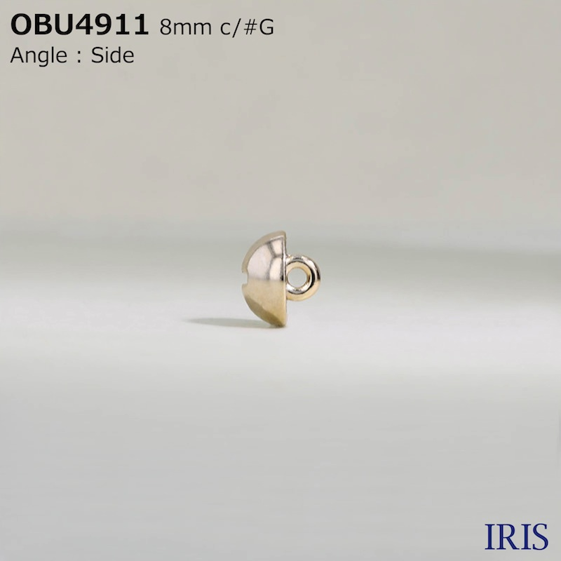 OBU4911 ダイカスト 半丸カン足ボタン  1サイズ6色展開