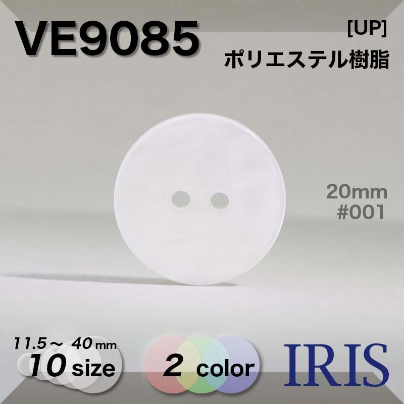 VE9085 ポリエステル樹脂 表穴2つ穴ボタン  10サイズ2色展開