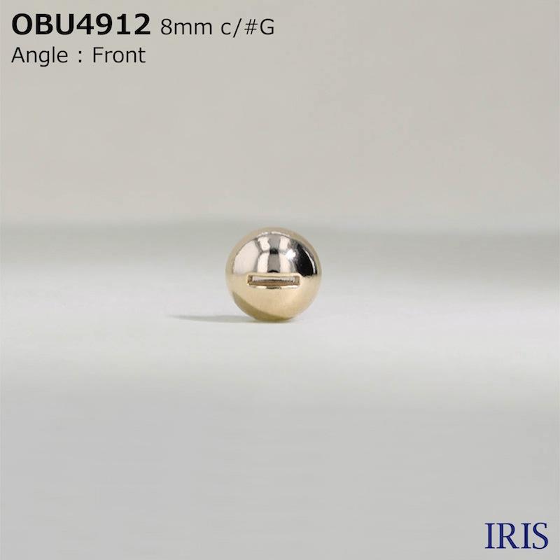 OBU4912 ダイカスト 半丸カン足ボタン  1サイズ6色展開