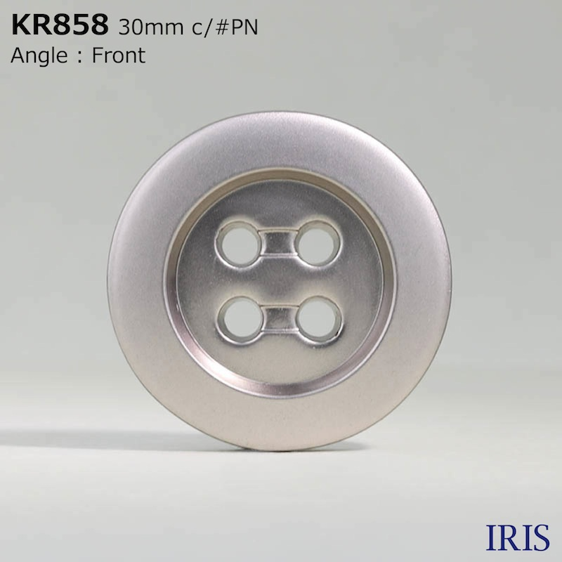 KR858 ABS樹脂 表穴4つ穴ボタン  3サイズ3色展開
