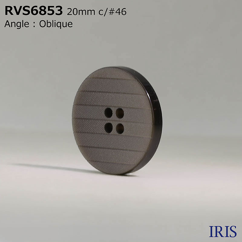RVS6853 ポリエステル樹脂 表穴4つ穴ボタン  4サイズ3色展開