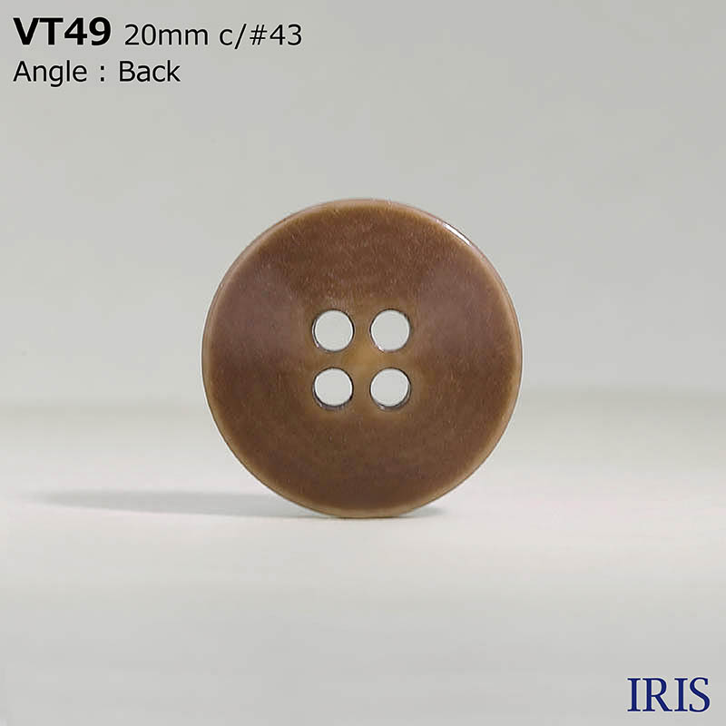 VT49 ポリエステル樹脂 表穴4つ穴ボタン  6サイズ11色展開