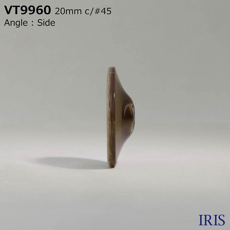 VT9960 ポリエステル樹脂 表穴4つ穴ボタン  5サイズ4色展開