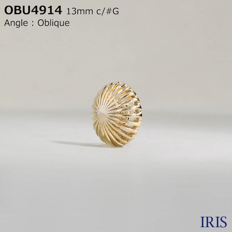 OBU4914 ハイメタル 半丸カン足ボタン  3サイズ4色展開