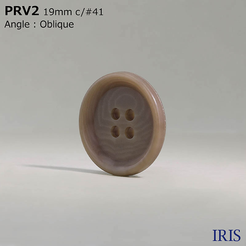 PRV2 ユリア樹脂 表穴4つ穴ボタン  2サイズ8色展開