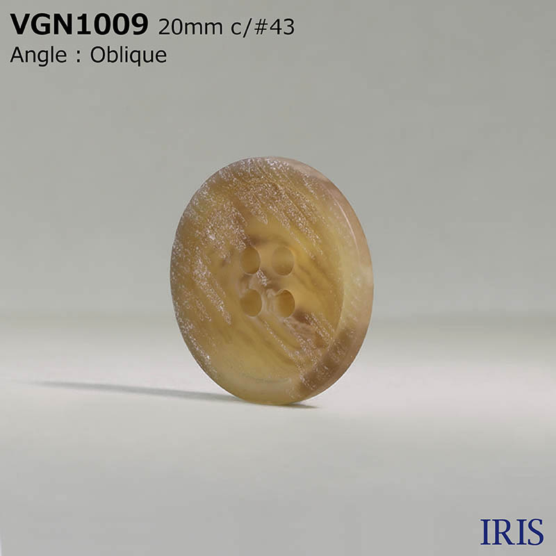VGN1009 ポリエステル樹脂 表穴4つ穴ボタン  4サイズ6色展開