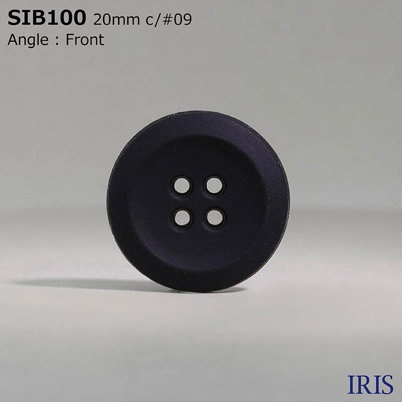 SIB100 ミラブル(シリコーン) 表穴4つ穴ボタン  4サイズ1色展開