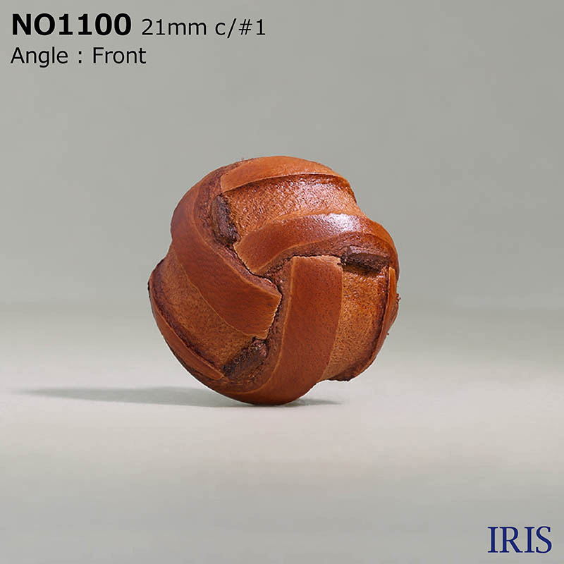 NO1100 皮革/真鍮 角カン足ボタン  4サイズ4色展開