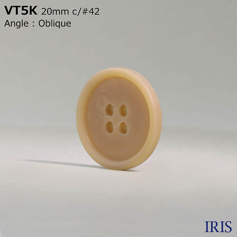 VT5K ポリエステル樹脂 表穴4つ穴ボタン  5サイズ18色展開