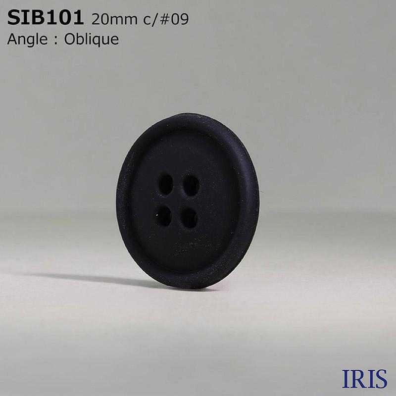 SIB101 ミラブル(シリコーン) 表穴4つ穴ボタン  4サイズ1色展開