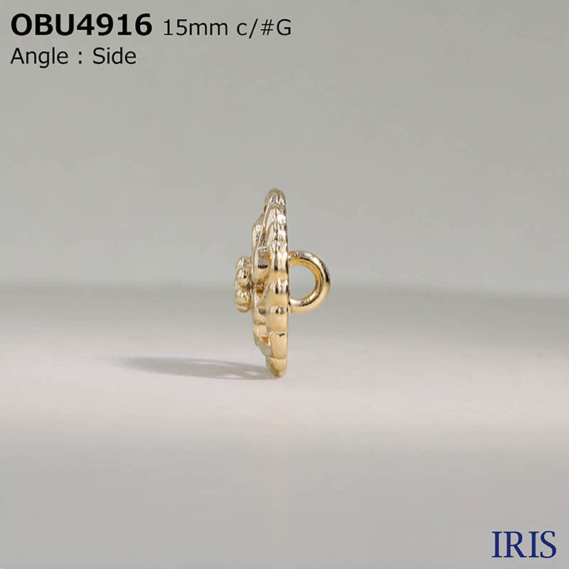 OBU4916 ハイメタル 半丸カン足ボタン  3サイズ2色展開