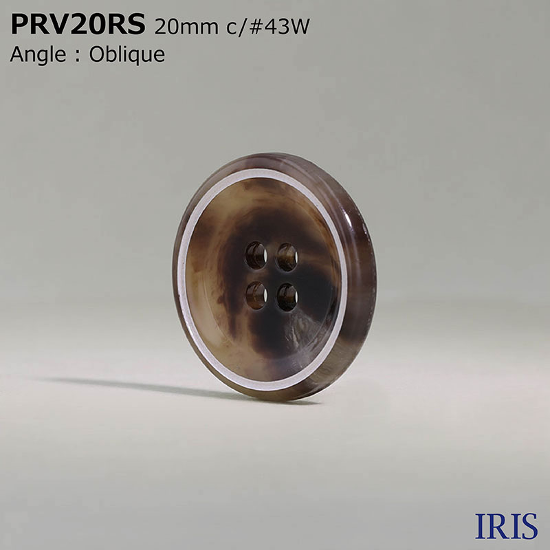 PRV20RS ユリア樹脂 表穴4つ穴ボタン  2サイズ12色展開
