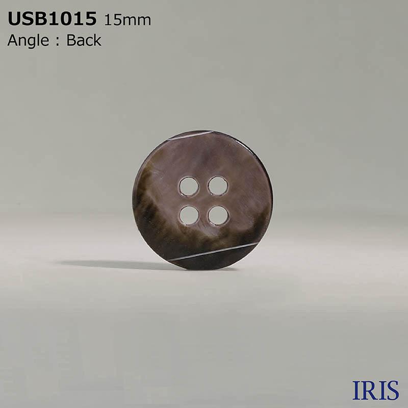 USB1015 黒蝶貝 表穴4つ穴ボタン  4サイズ1色展開