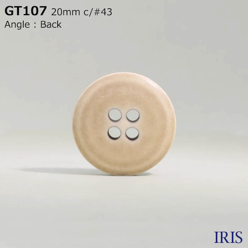 GT107 ポリエステル樹脂 表穴4つ穴ボタン  5サイズ7色展開