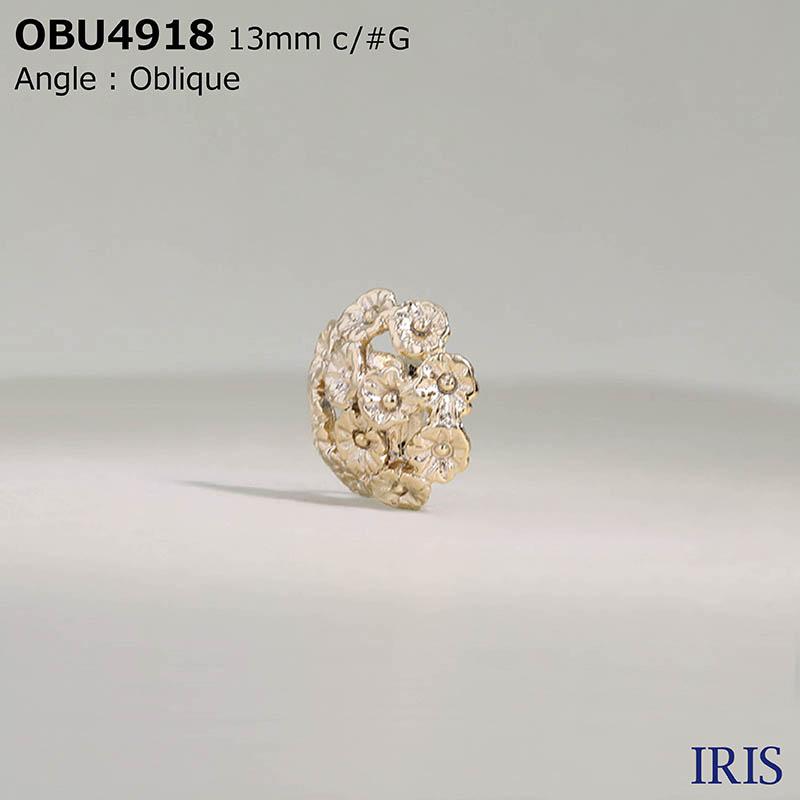 OBU4918 キャスト 半丸カン足ボタン  2サイズ3色展開