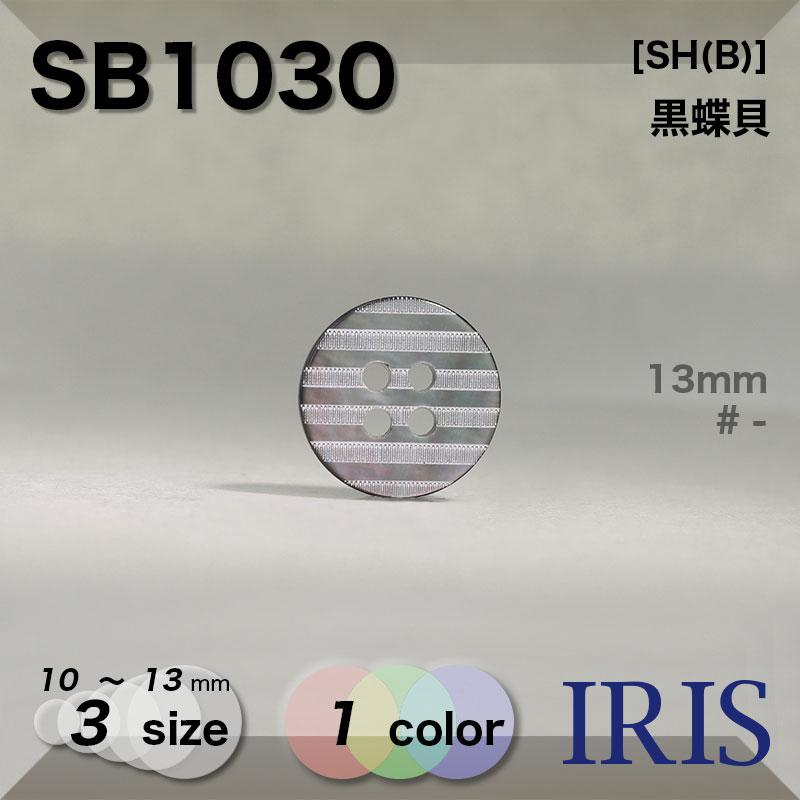 SB1030 黒蝶貝 表穴4つ穴ボタン  3サイズ1色展開