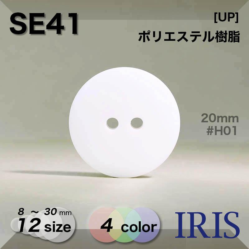 SE41 ポリエステル樹脂 表穴2つ穴ボタン  12サイズ4色展開