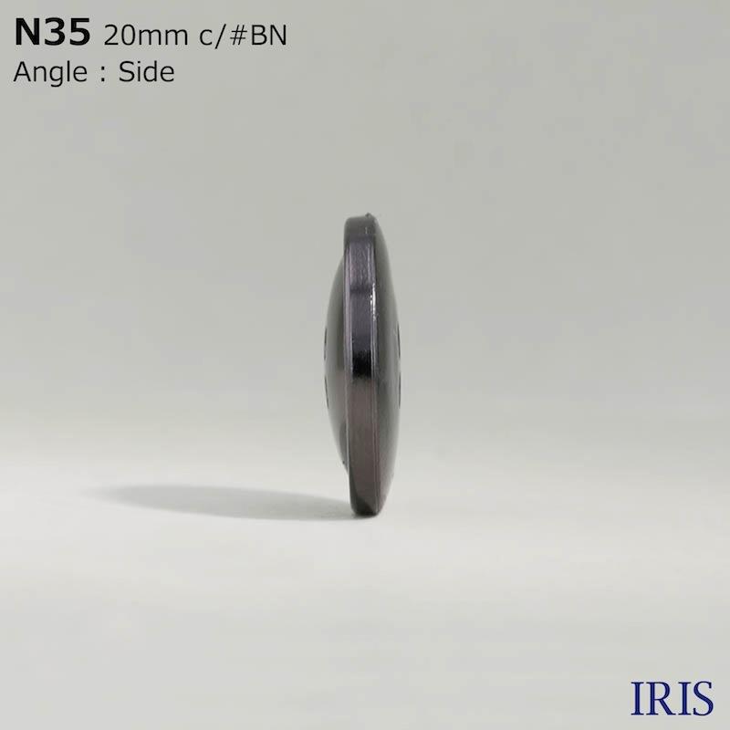 N35 ABS樹脂 表穴4つ穴ボタン  6サイズ3色展開