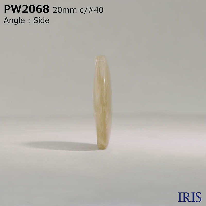PW2068 ポリエステル樹脂 表穴4つ穴ボタン  4サイズ5色展開