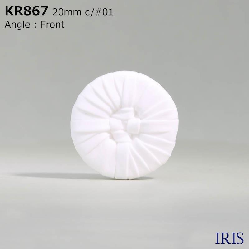 KR867 アクリル樹脂 トンネル足ボタン  5サイズ2色展開