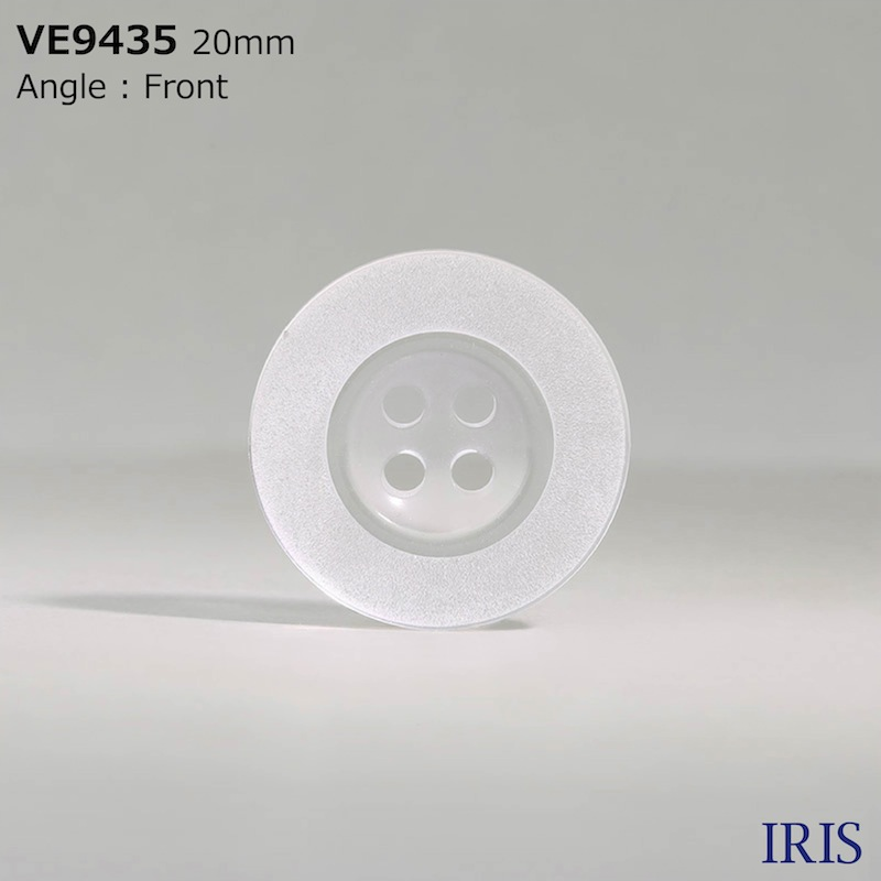 VE9435 ポリエステル樹脂 表穴4つ穴ボタン  7サイズ1色展開