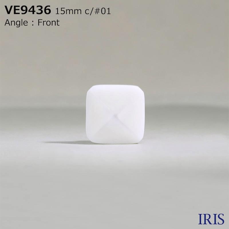 VE9436 ポリエステル樹脂 棒足ボタン  2サイズ3色展開