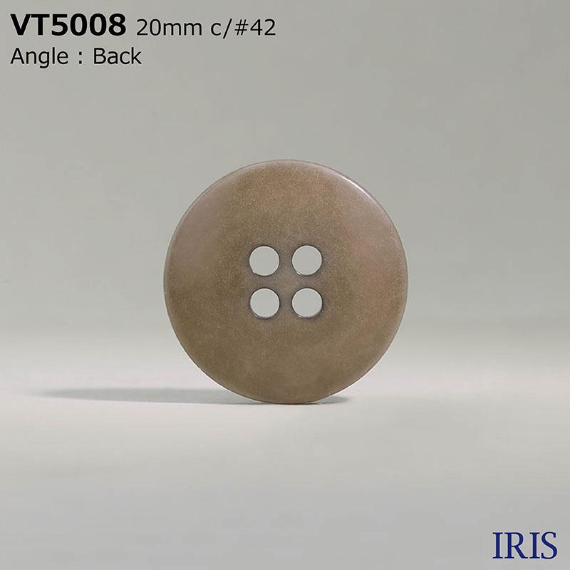 VT5008 ポリエステル樹脂 表穴4つ穴ボタン  6サイズ5色展開