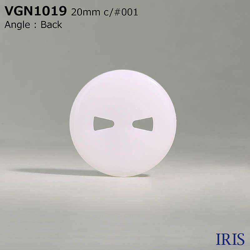 VGN1019 ポリエステル樹脂 表穴2つ穴ボタン  4サイズ3色展開