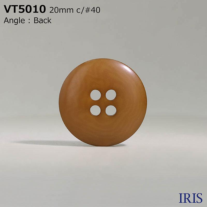 VT5010 ポリエステル樹脂 表穴4つ穴ボタン  5サイズ8色展開