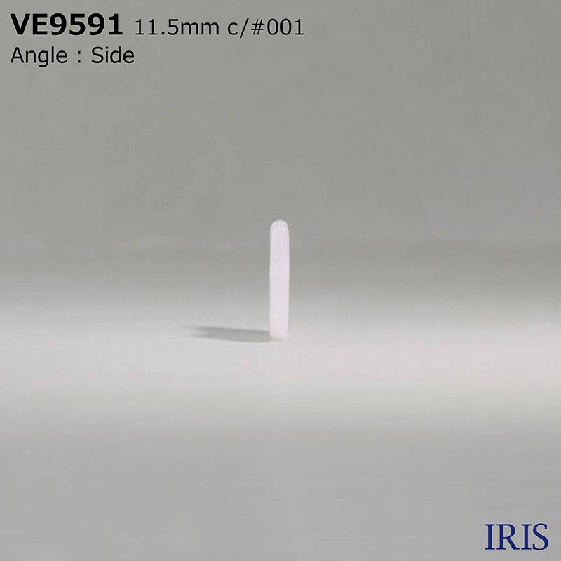 VE9591 ポリエステル樹脂 表穴2つ穴ボタン  1サイズ2色展開