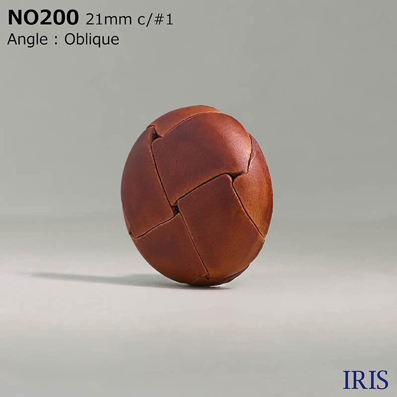 NO200 皮革 その他ボタン  6サイズ4色展開