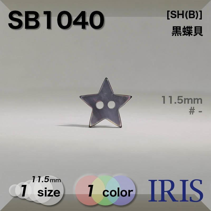 SB1040 黒蝶貝 表穴2つ穴ボタン  1サイズ1色展開