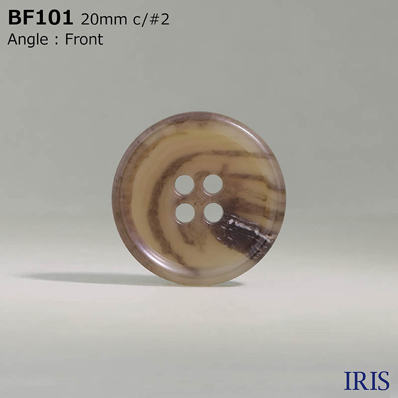 BF101 ユリア樹脂 表穴4つ穴ボタン  6サイズ17色展開
