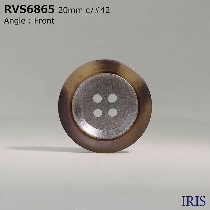 RVS6865 ポリエステル樹脂 表穴4つ穴ボタン  4サイズ4色展開