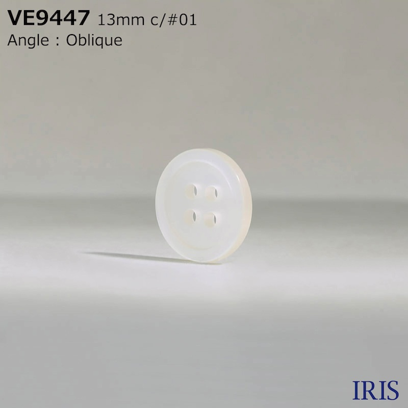 VE9447 ポリエステル樹脂 表穴4つ穴ボタン  4サイズ5色展開