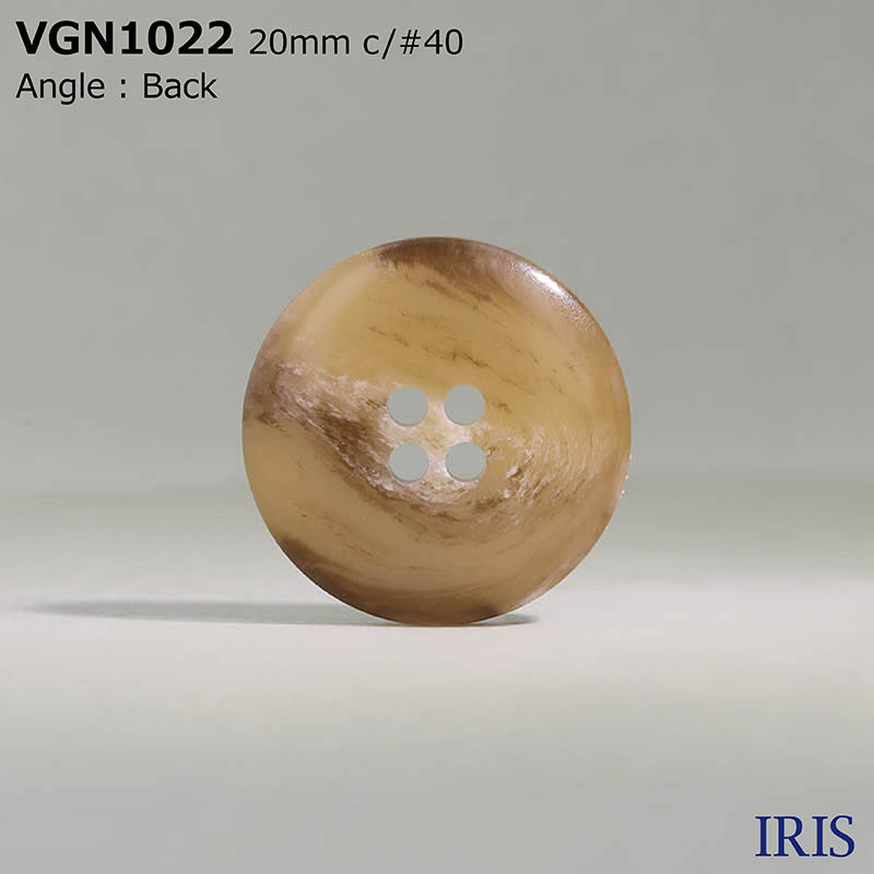 VGN1022 ポリエステル樹脂 表穴4つ穴ボタン  5サイズ6色展開
